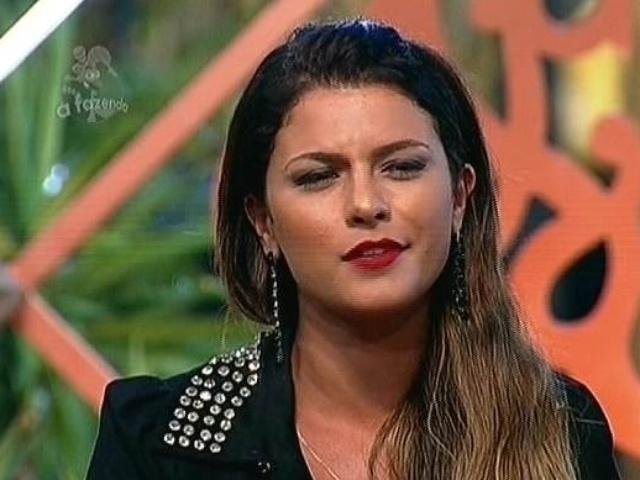 24.nov.2014 - Babi Rossi lembra rixa com Marlos Cruz e indica o ator para enfrenter Leo Rodriguez na décima primeira roça de