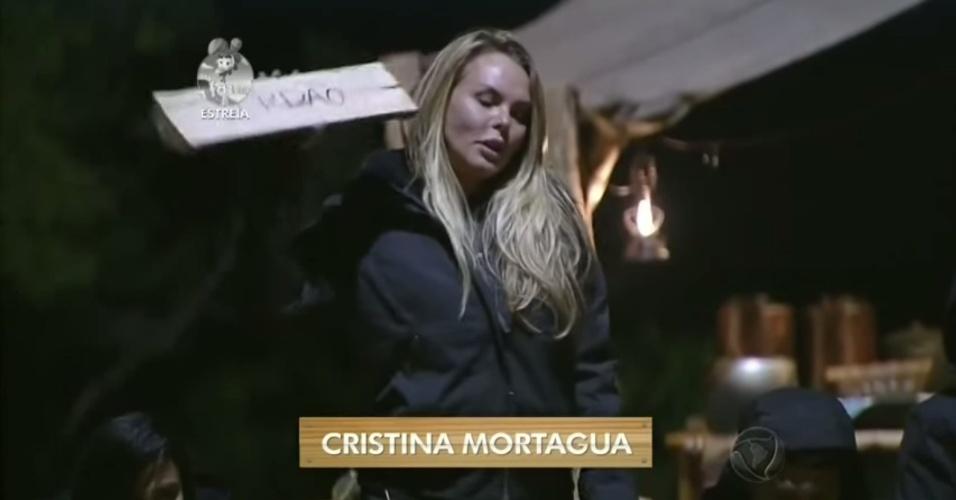 """14.set.2014 - Cristina Mortágua participa de primeira atividade de """"A Fazenda 7"""""""