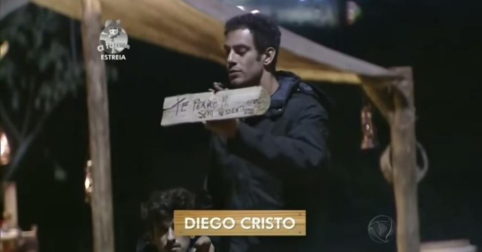 """14.set.2014 - Diego Cristo participa de primeira atividade de """"A Fazenda 7"""""""