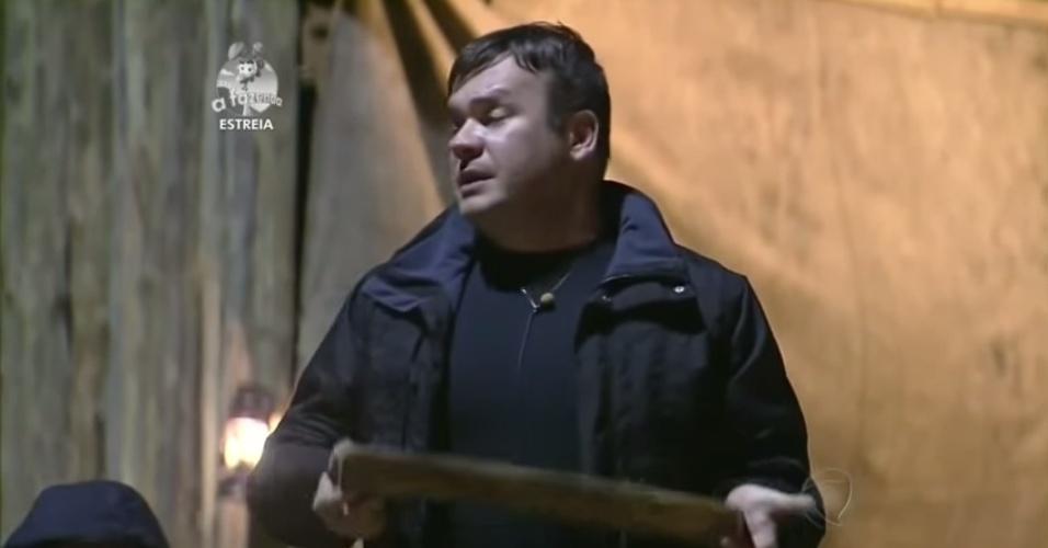 """14.set.2014 - Felipeh Campos participa de primeira atividade de """"A Fazenda 7"""""""