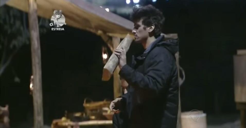 """14.set.2014 - Leo Rodriguez participa de primeira atividade de """"A Fazenda 7"""""""