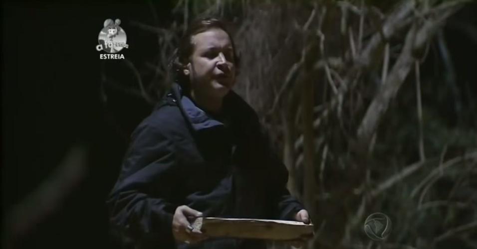 """14.set.2014 - Roy Rosseló participa de primeira atividade de """"A Fazenda 7"""""""