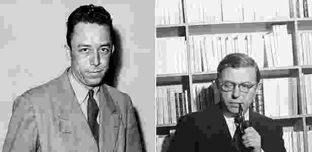 Albert Camus e Jean Paul-Sartre  - AFP/AP