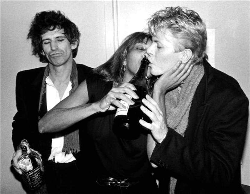 Keith Richards, Tina Turner e David Bowie