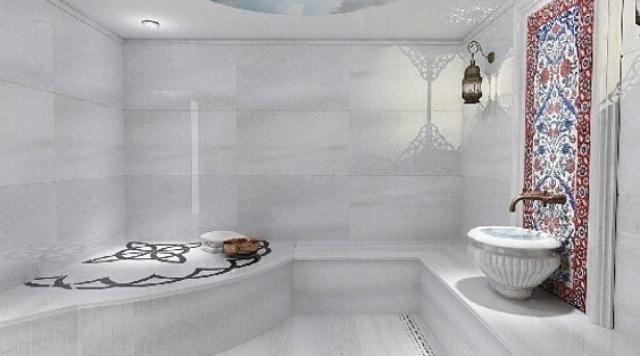 Exemplo de hamam privado, muito comum em moradias de alto nível na Turquia