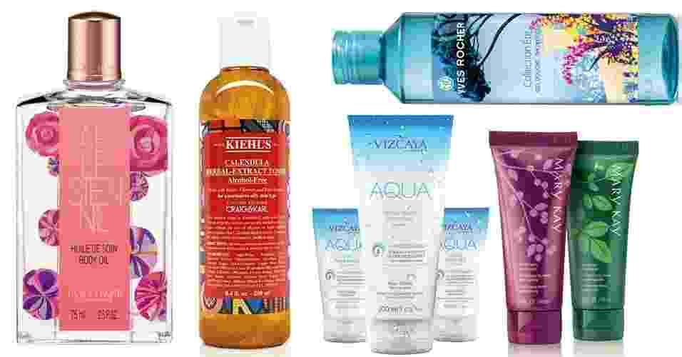 Montagem produtos para a pele novembro 2014 - Fotomontagem UOL/Divulgação