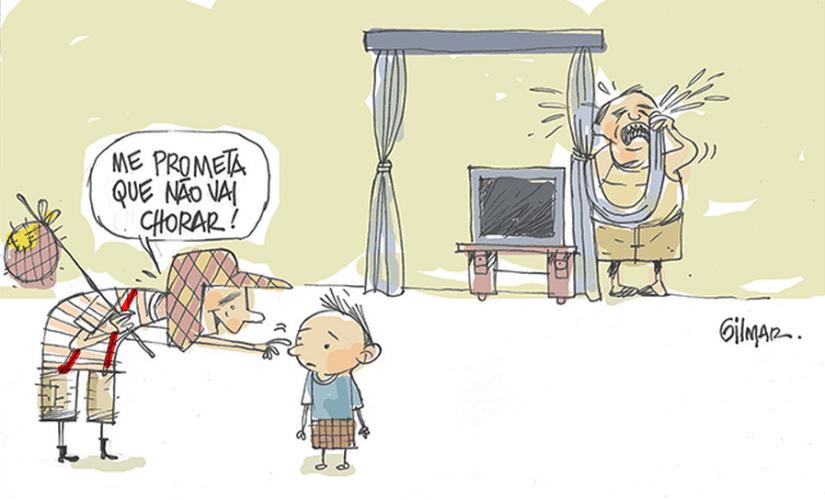 O cartunista brasileiro Gilmar também prestou sua homenagem a Roberto Bolaños. No desenho, o personagem Chaves se despede de uma criança e pede para que ela não chore, mas é um homem adulto atrás que vai às lágrimas