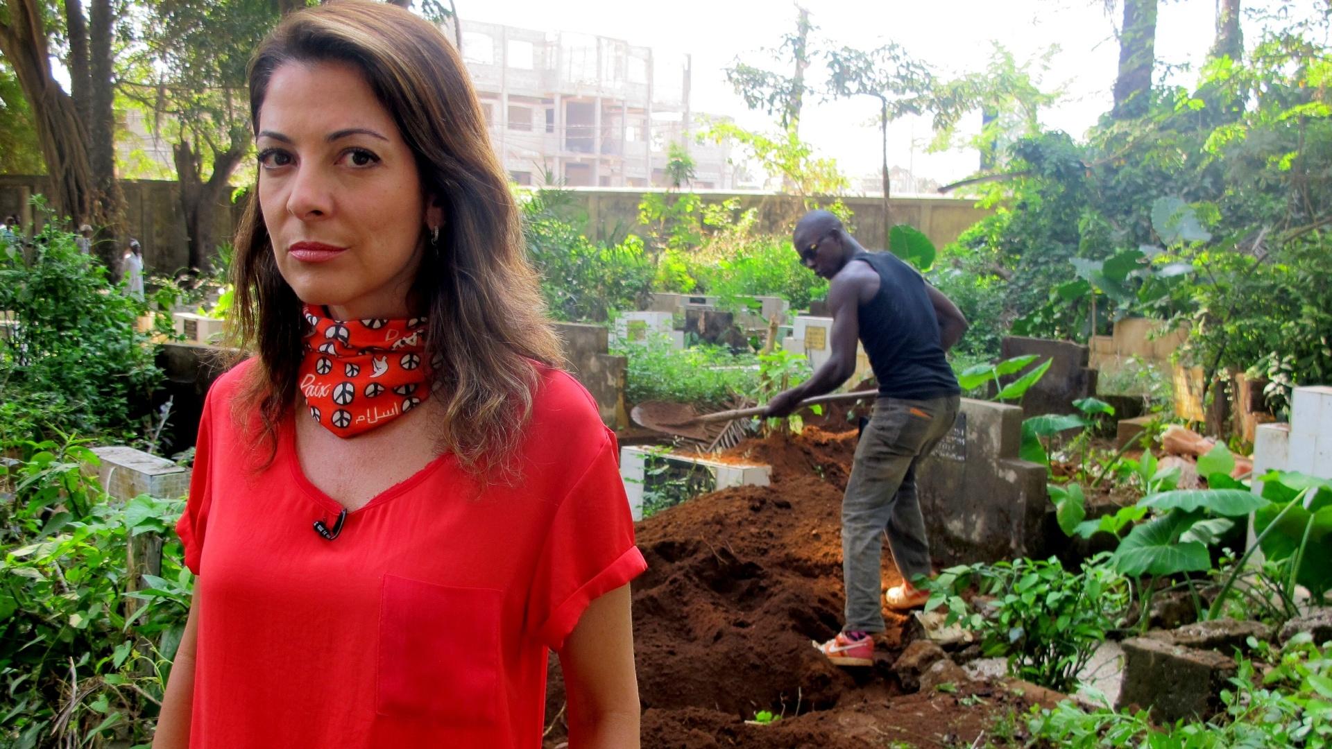 Ana Paula Padrão grava especial do ebola na Guiné, na África