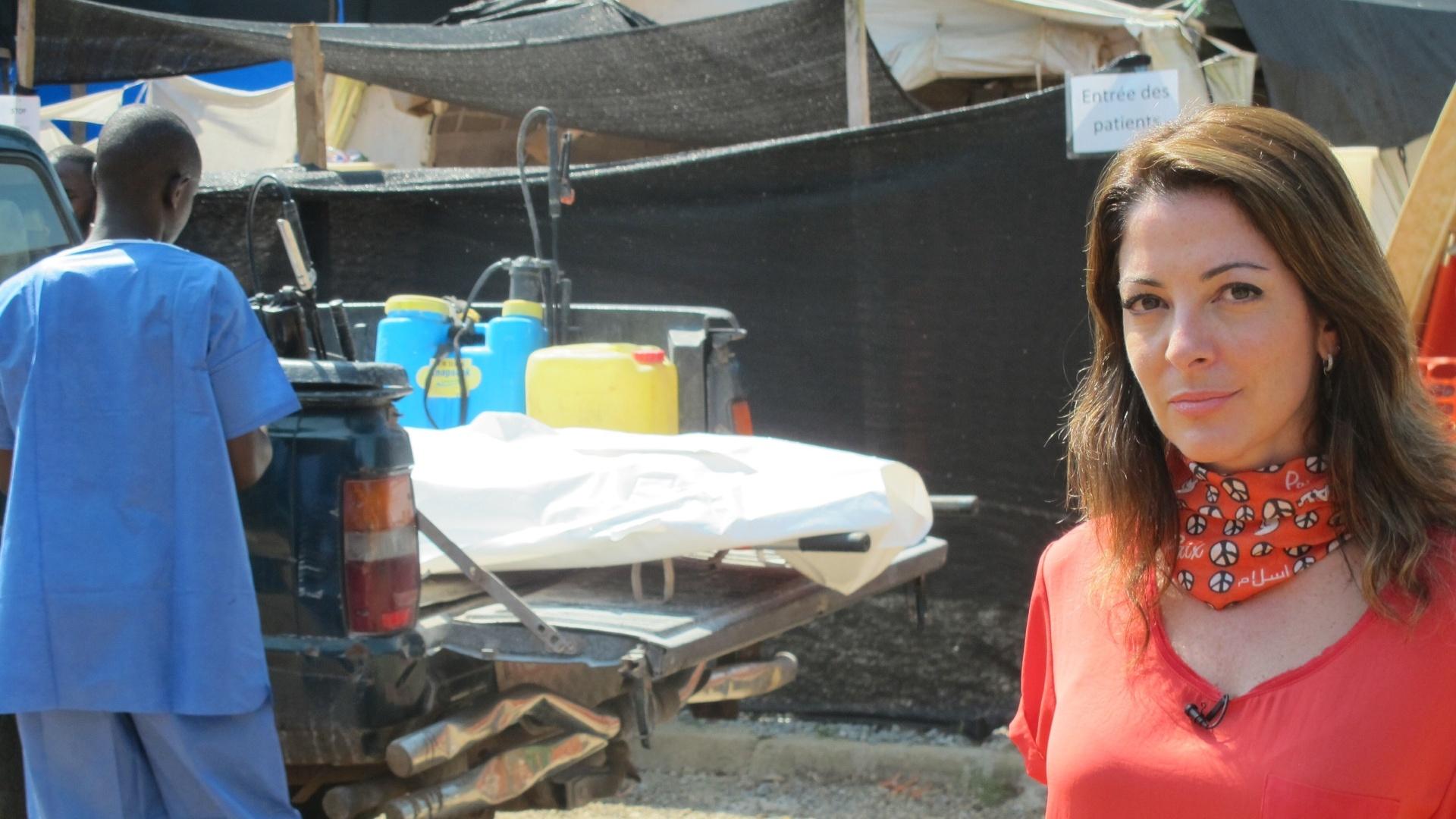 Ana Paula Padrão grava especial sobre ebola na Guiné, na África