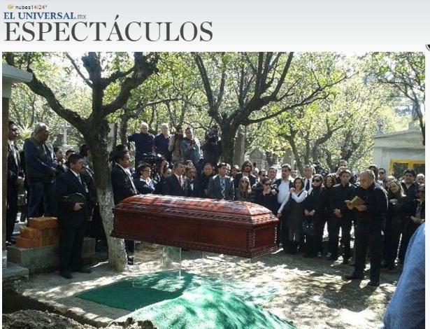 Roberto Bolaños foi enterrado no México