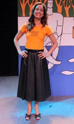 1.dez.2014 - Camila Pitanga apresenta o