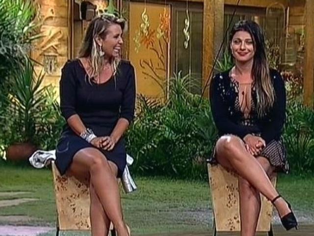 """2.dez.2014 - Andréia Sorvetão enfrenta Babi Rossi na 13ª roça de """"A Fazenda 7"""""""