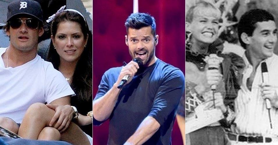 """O jogador de futebol Pato, o cantor Ricky Martin, a apresentadora Xuxa e o piloto Ayrton Senna foram assunto entre os peões no reality show """"A Fazenda 7"""""""