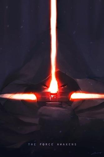 O pôster de Charles Tanart mostra o novo sabre de luz que aparece no primeiro trailer de