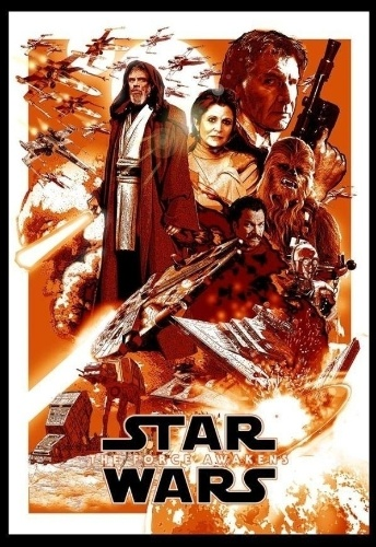 Poster do fã Tony Harry mostra Luke Skywalker, Leia e Han Solo nos tempos de hoje, com umas ruguinhas a mais