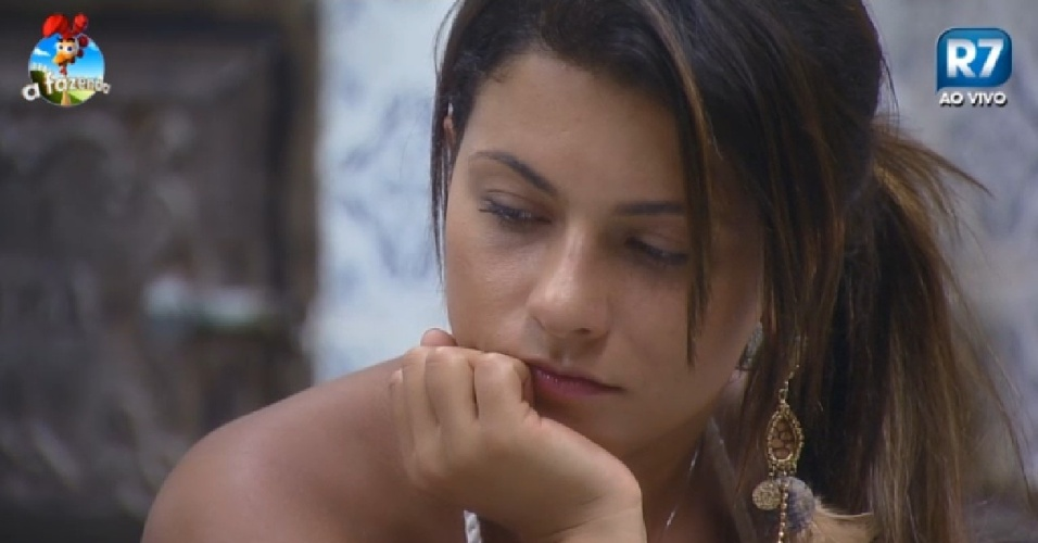 3.dez.2014 - Babi Rossi diz que vai ficar arrasada se perder para Léo Rodriguez