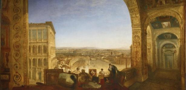 """A pintura """"Rome, from the Vatican"""" (1836), do pintor britânico Joseph Mallord William Turner (1775-1851) - Reprodução"""