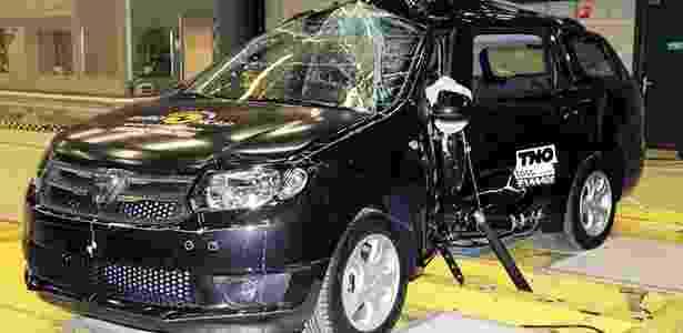 Dacia Logan em teste do Euro NCAP - Divulgação - Divulgação