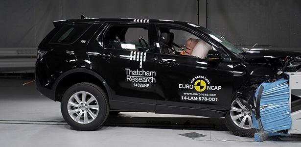 Discovery Sport, que terá sua produção nacionalizada em 2016, foi o modelo com médias mais altas entre os 12 testados pelo Euro NCAP em novembro, e ganhou 5 estrelas - Divulgação