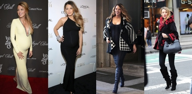 Blake Lively em diferentes looks durante a gravidez - Getty Images e Grosby Group