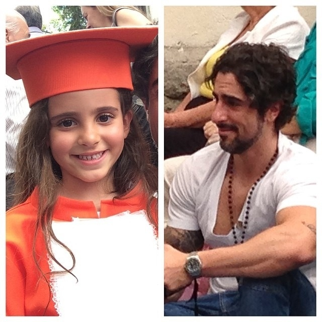 6.dez.2014 - Marcos Mion se emocionou na formatura da filha, Donatella, de 6 anos