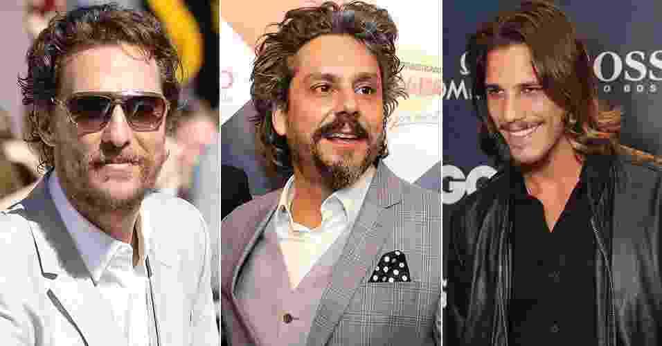 Homem: como finalizar o cabelo para ficar parecido com visual dos famosos - Montagem UOL/AgNews