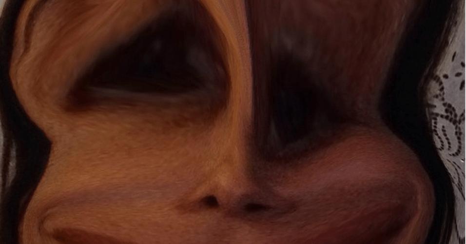 8.dez.2014 - Ivete Sangalo se diverte com um aplicativo de celular que deforma o rosto das pessoas e posta foto de sua versão
