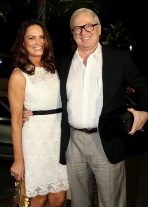 Luiza Brunet com o empresário Lirio Parisotto; atriz afirma ter sido agredida por ele em 21 de maio - Claudio Andrade/Photo Rio News