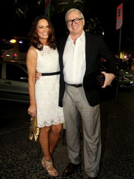 Luiza Brunet leva o namorado, o empresário Lírio Parisotto, à comemoração de 79 anos de Boni  - Claudio Andrade/Photo Rio News