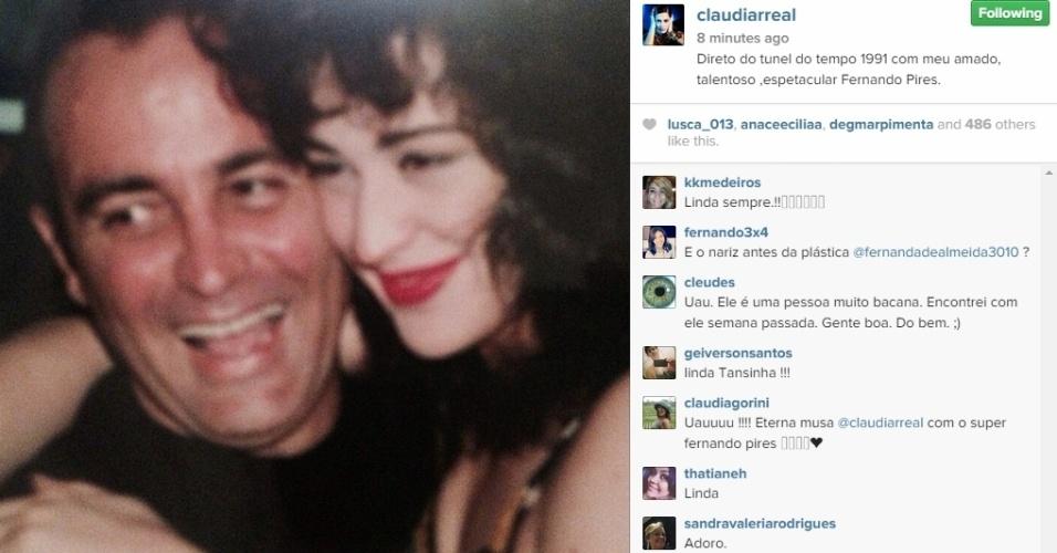 9.dez.2014 - Claudia Raia decidiu revirar o baú de fotos antigas nesta terça-feira (9),