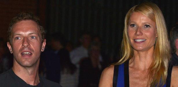 Gwyneth Paltrow e Chris Martin em janeiro de 2014 - Getty Images