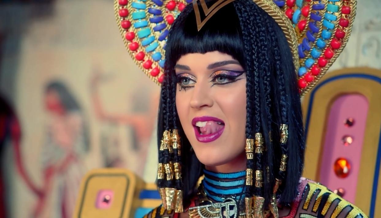Katy Perry em cena do clipe de