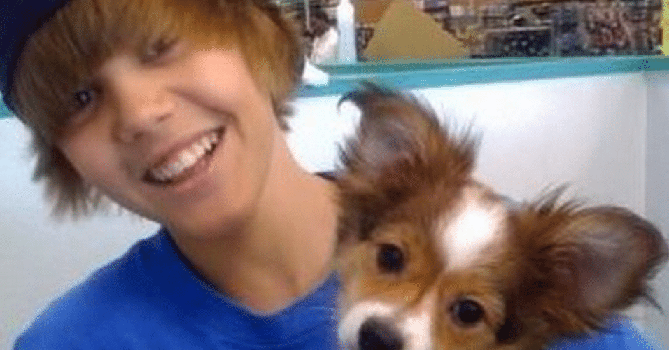 11.dez.2014 - Justin Bieber lamenta a morte de seu cachorro Sammy e posta uma foto no Instagram em homenagem ao seu bicho de estimação