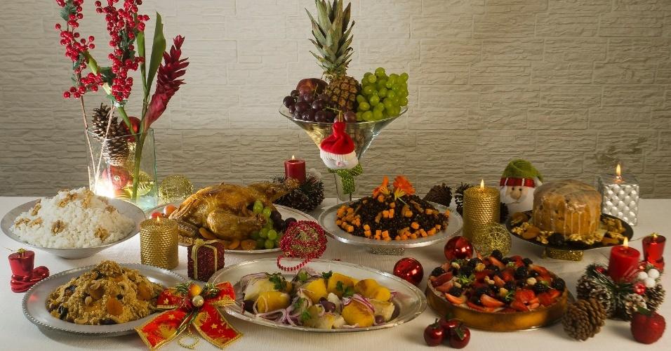 Mesa de Natal do buffet Chezamis