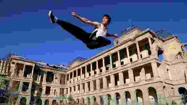 """Abbas Alizada ficou conhecido como o """"Bruce Lee afegão"""" - Kawoon Khamoosh/BBC"""