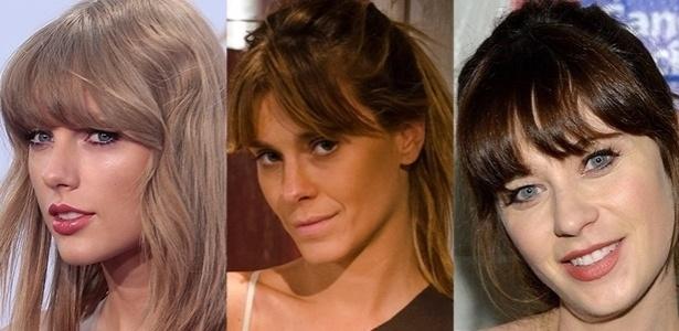 Franjas de famosas como Taylor Swift, Carolina Dieckmann e Zooey Deschanel são sonho de consumo de quem quer adotar o visual