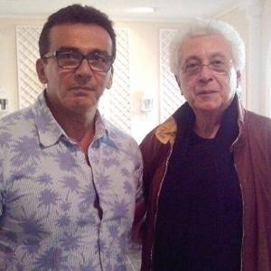 Hugo Esteves e o autor Aguinaldo Silva
