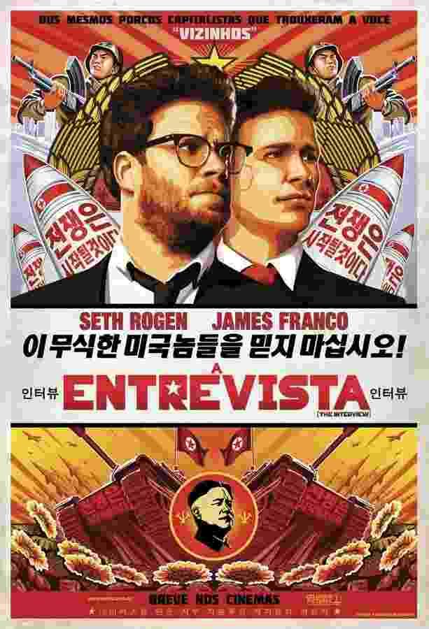 """Pôster do filme """"A Entrevista"""", dos diretores Seth Rogen e Evan Goldberg - Divulgação"""