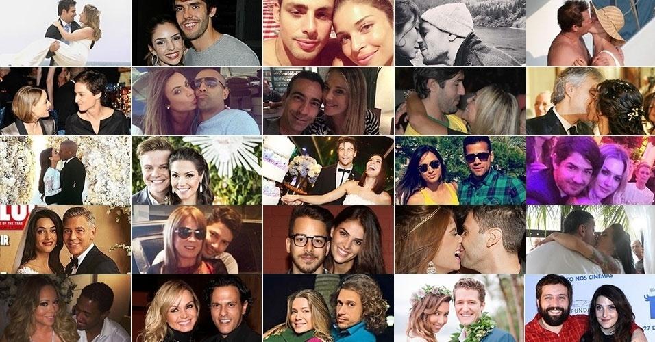 Casamentos, separações, namoros e traições marcaram o ano de 2014; relembre o que aconteceu nos corações dos famosos