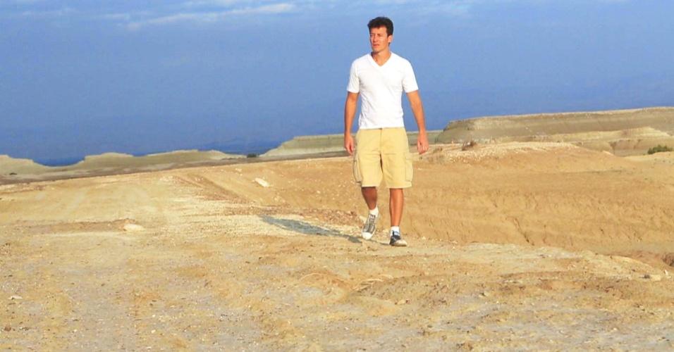 Para comemorar o Natal, Rodrigo Faro visita Israel