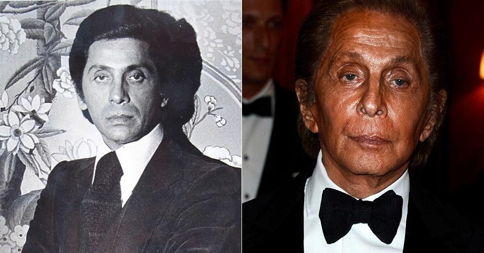 Valentino Garavani - antes e depois