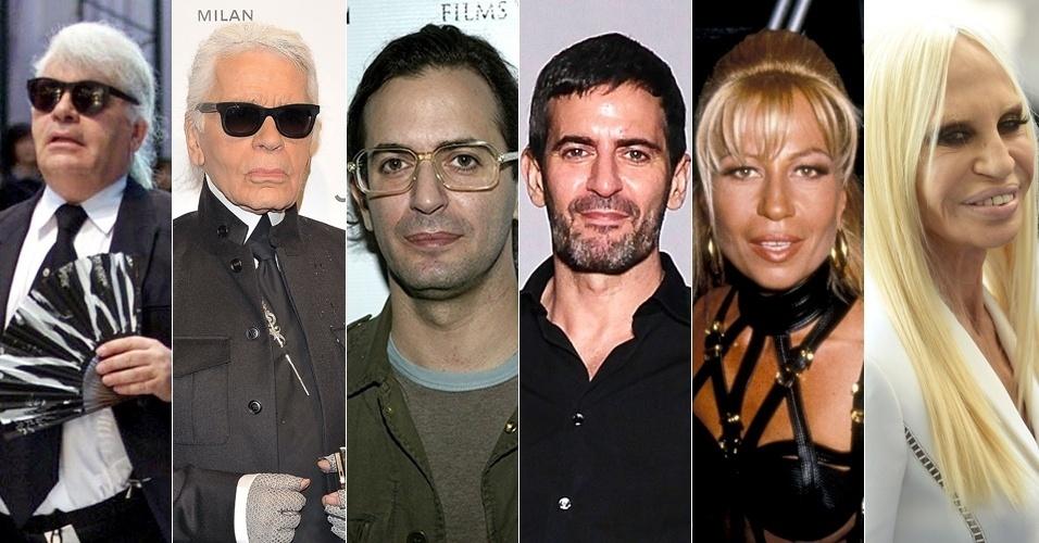 Antes e depois estilistas famosos