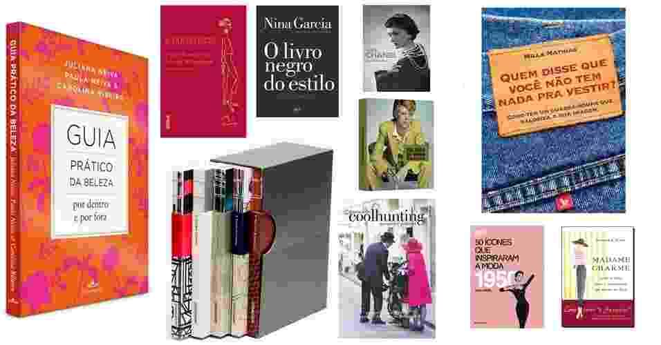 Livros sobre moda - Natal/2014 - abre - Divulgação/Fotomontagem UOL