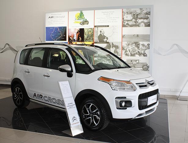 AirCross, opção de crossover aventureiro da Citroën, é visto em loja de SP - Divulgação