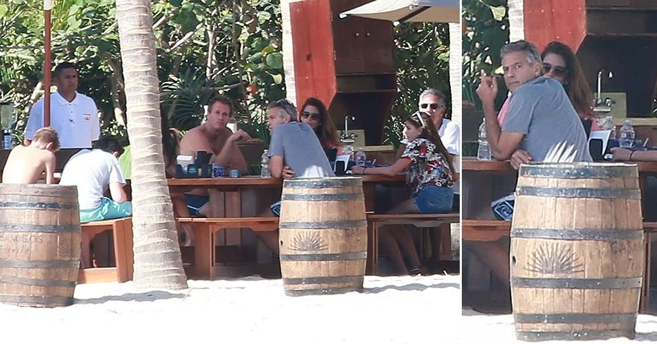 22.dez.2014 - George Clooney é flagrado em Cabo de San Lucas, onde passa o Natal com a mulher, Amal Alamuddin, e o casal de amigos Cindy Crawford e Rande Gerber