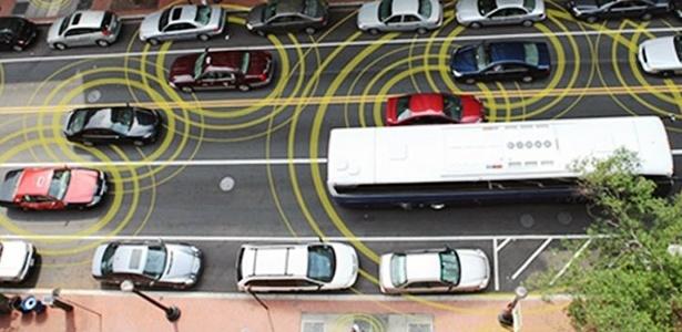 """Quando todos os veículos utilizarem tecnologia """"V2V"""" e se comunicarem entre si, como a rede wireless de internet, a chance de acidente cairá a praticamente zero - Divulgação"""