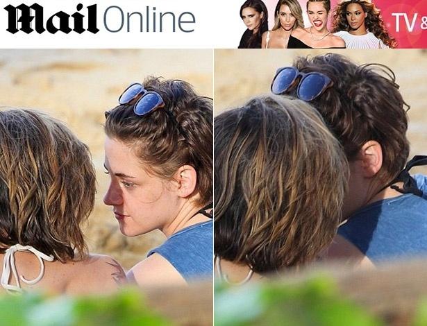 1.jan.2015 - Kristen Stewart é fotografada em clima de intimidade com Alicia Cargile
