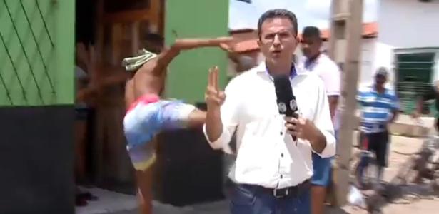 Jornalista leva voadora ao vivo no piau ele deu um for Https pedro camera it login