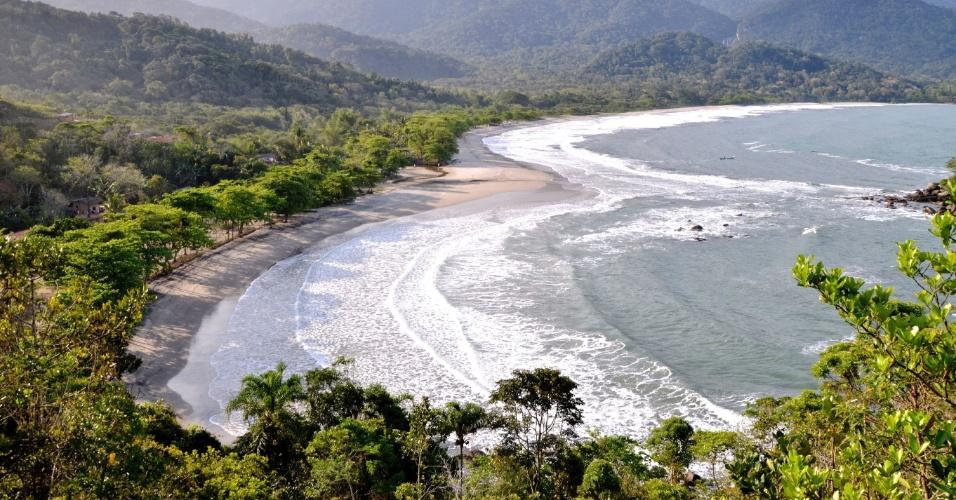 Praia de Castelhanos, em Ilhabela (SP)