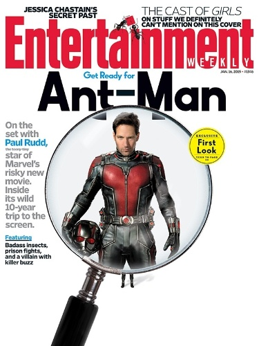 Revista traz primeira imagem de Paul Rudd com traje do Homem-Formiga